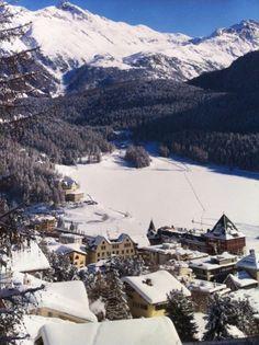 St Moritz - photo sent by a friend today. Beautiful, sunny, snowy... #Switzerland