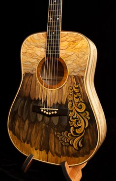 Hand painted lichty guitar, artwork by clark hipolito