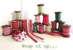 Festive Red, White & Green Ribbon