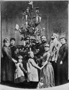 Celebrating Christmas in the home of Danish photographer G. Alexandersen, 1880s