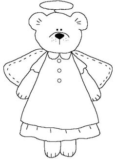 angel bear coloring pages - photo#18