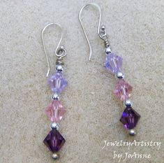 Swarovski Crystal Earrings  Handmade Sterling by JewelryArtistry, $29.00