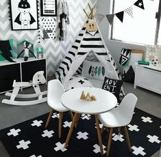 Monochrome Kids Playroom Inspiration Monochrome Kids Playroom Inspiration The post Monochrome Kids Playroom Inspiration appeared first on Pink Unicorn. Baby Bedroom, Baby Boy Rooms, Girls Bedroom, Bedroom Black, Trendy Bedroom, Bedroom Modern, Bedroom Decor, Room Baby, Black White Nursery