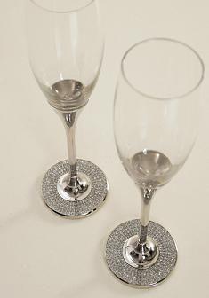 Champagne Glasses #Bling #Wedding