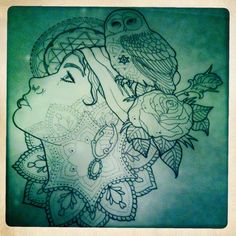 Traditional feminine tattoos - gypsy + owl = my kind of tattoo!