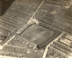 """""""Aerial view of Goodison Park in 1922 Football Music, Uk Football, Retro Football, Football Stadiums, School Football, Vintage Football, British Football, Image Foot, Goodison Park"""