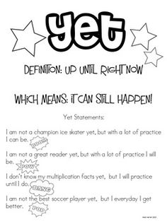 The Amazing Super Power of YET! - Fostering a Growth Mindset