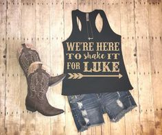 Luke shirt country tank country tee were here by HeartFeltArtwork