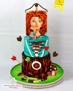 Princess Brave (Airbrush Cake) by Marielly Parra