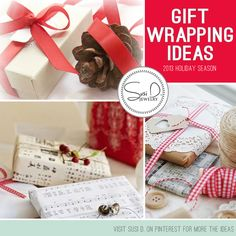 Click here http://www.pinterest.com/susidjewelry/let-s-wrap-it-up/ to see all of Susi D. Jewelry's gift wrapping ideas.