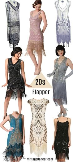 1920s flapper costumes, quality flapper dresses, 1920s style clothing at VintageDancer.com/1920s