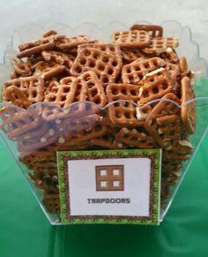 Minecraft desserts recipe pinterest minecraft party ideas minecraft trapdoors pretzels forumfinder Images