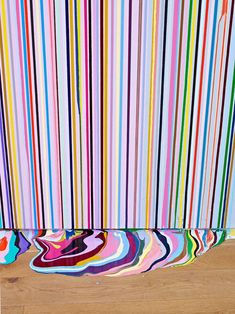 Creative Painting, Ian, Davenport, Picdit, and Color image ideas & inspiration on Designspiration Backgrounds Wallpapers, Inspiration Art, Deco Boheme, Striped Walls, Striped Canvas, Art Design, Installation Art, Art Installations, Fresco