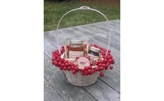 Taste of the Island Gift Basket--late summer tastes and scents:  beach plums, cranberries, rose hips.  All embodied in these lovely jellies and sauces.  Shop local, shop Nantucket!