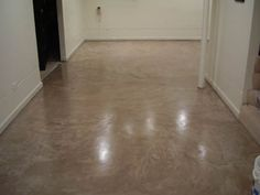 Basement floor microtop overlay - Chicago - Decorative Concrete Kingdom