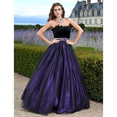 TS Couture Prom Formal Evening Quinceanera Sweet 16 Dress - Vintage Inspired A-line Ball Gown Princess Strapless Floor-length Tulle with – AUD $ 286.27