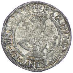 Ferdinand I. 1521 - 1564 Sechser o. J. Silber, Hall