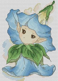 Zz Cross Stitch Fairy, Cross Stitch Flowers, Cross Stitch Designs, Cross Stitch Patterns, Cross Stitching, Cross Stitch Embroidery, Coloring Pages For Kids, Line Drawing, Needlework
