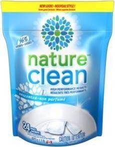 Nature Clean Automatic Dishwasher Pacs (ewg score A)