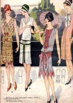 1920s fashion sketch