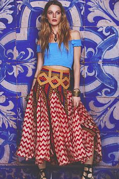 Moroccan Romance... like that skirt, mostly the style, kinda iffy on the gold diamonds. Just seems a little cluttered to me with so many patterns.