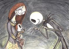 Jack and Sally Skellington Family
