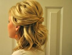 Prom hair for shirt hair