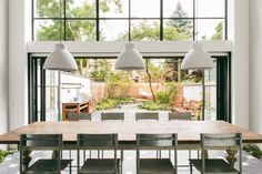 Steel Factory Windows, Gardenista Love love love this...big long kitchen/dining table...open concept...love love love it