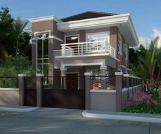 Splendid modern residential house with balcony amazing architecture small h Latest House Designs, Cool House Designs, Modern Houses Pictures, Balcony Design, Balcony Ideas, House With Balcony, Modern Villa Design, Modern Minimalist House, Bungalow Homes