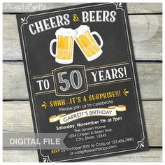 Image result for invitations for 50 th for man