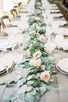 Loose rose petals used as a garland or runner on wedding tables or scattered among floating candles a trend thats coming on strong.