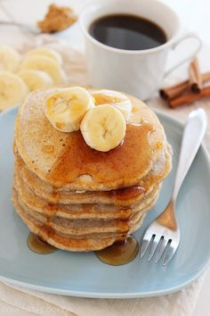 The Comfort of Cooking » Whole Wheat Peanut Butter-Banana Pancakes