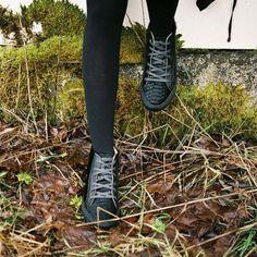 Sneakers Hautes  Poulain Définition Noir  Craie