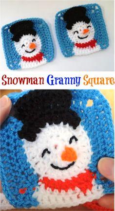Snowman Granny Square