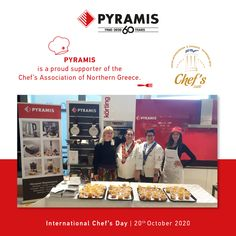 International Chef's Day today and PYRAMIS is a proud supporter of the Chef's Association of Northern Greece. Oven And Hob, International Days, Cooker Hoods, Quality Kitchens, Greece, Greece Country, Hoods, Range Hoods