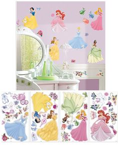 Disney Princess Jeweled Wall Stickers - Wall Sticker Outlet