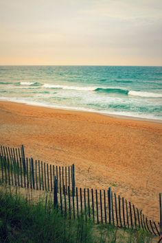 Dunes at Duck: fine art photograph print of Outer Banks seascape (blue Atlantic… Duck North Carolina, Outer Banks North Carolina, North Carolina Beaches, Outer Banks Beach, Beach Pink, Beach Aesthetic, Summer Aesthetic, Paradise On Earth, I Love The Beach