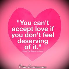 Feeling love completely is required.