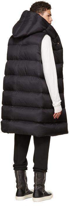 Rick Owens - Black Down Liner Vest