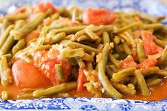 green beans and tomatoes Pioneer Woman