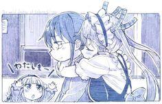 Anime,Аниме,Kobayashi-san Chi No MaiDragon,Kanna Kamui,Kobayashi (MaiDragon),Tooru (MaiDragon),sakino shingetsu,Monochrome (Anime)