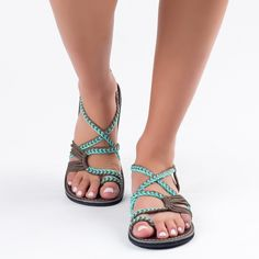 Women's Flip Flops Sandals Summer Shoes Woven Strap Fashion Beach Shoes Slippers - Feel Better in Shoes - Womens Summer Shoes, Womens High Heels, Womens Flats, Beach Shoes, Beach Sandals, Golf Shoes, Summer Sandals, Bohemian Sandals, Women's Shoes