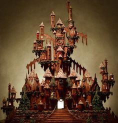 Learn how to create an impressive gingerbread castle for Christmas, plus more sweet holiday recipes from Genius Kitchen. Gingerbread Castle, Gingerbread Dough, Christmas Gingerbread, Christmas Ideas, Gingerbread Cookies, Pagan Christmas, Italian Christmas, Christmas Kitchen, Christmas Goodies
