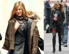 Jennifer Aniston Drinking Starbucks Passion Tea on the Set of The Baster ... #celebrities #tea