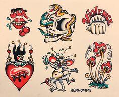 A place to show off traditional tattoo flash. No digital flash. Traditional Tattoo Flash Sheets, Traditional Tattoo Sketches, Traditional Tattoo Design, Traditional Flash, American Traditional, Outer Bicep Tattoos, Playboy Tattoo, Tatuagem Old Scholl, Desenhos Old School