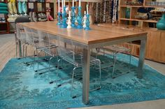 THE dinner party essential: A timber dining table from The General Store