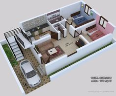 62 ideas house interior layout garage for 2019 2bhk House Plan, Sims House Plans, Small House Floor Plans, Model House Plan, House Layout Plans, Duplex House Plans, Family House Plans, New House Plans, House Layouts