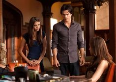 Still of Ian Somerhalder, Courtney Ford and Nina Dobrev in The Vampire Diaries (2009)