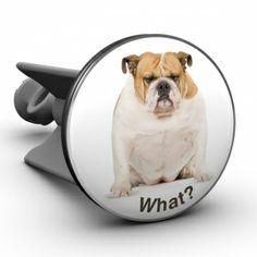Waschbeckenstöpsel Bulldogge