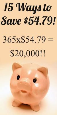 Round up of 15 Ways to Save $54.79